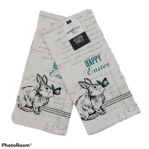 ❤️Bunny Hill Farms Kitchen Towels Set of 2